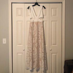 White BCBG Max Azria formal or bridal dress